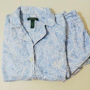 Lauren Ralph Lauren pajamas monogram paisley med.